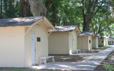 Cabins 1-4 and Bath Houses